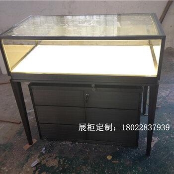 透明玻璃珠寶展示柜定制金屬不銹鋼卡地亞展柜帶收納柜