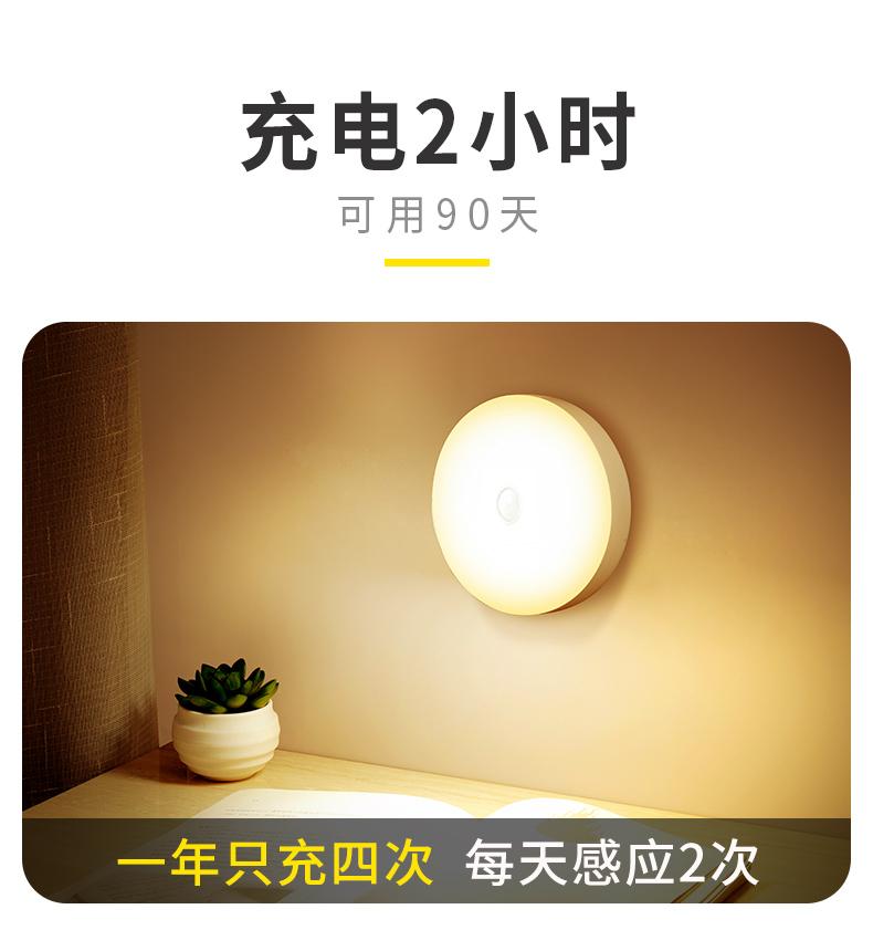 节能环保省电,智能人体感应小夜灯