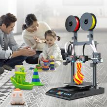 跨境電商代理:雙噴頭3D打印機,激光雕刻3D打印機圖片