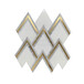 希腊水晶白箭形金属马赛克