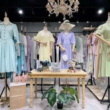 廣州三杰服飾羊絨大衣、連衣裙、品牌折扣女裝走份批發圖片