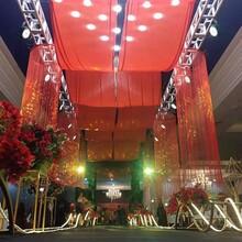 鋁合金桁架太空行架戶外演唱會燈光背景架定制圓形桁架背景臺圖片