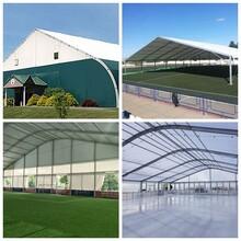 装配式户外篮球场篷房多功能体育篷房洛克公园篮球大篷图片