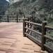 水泥仿樹皮護欄廠家多款多型河堤公園戶外圍欄