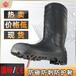 安全靴PVC鋼頭雨鞋勞保高筒防砸防刺穿防滑耐油鋼頭鋼底雨靴