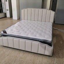 廠家直銷批發皮床美式輕奢后現代臥室軟包皮床1.8m主臥雙人床圖片