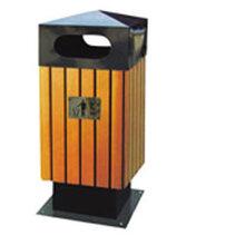 厂家供应优质钢木垃圾桶学校垃圾桶图片