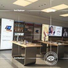 苏州市供应苹果木纹体验中岛、华为木纹手机体验桌