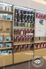 珠海市华为手机专卖店新款木纹手机柜订做