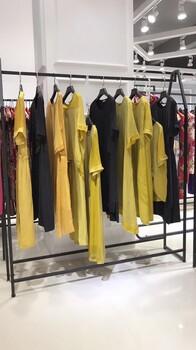 日系品牌HL2018夏季新款,铜氨丝连衣裙高端女装批发