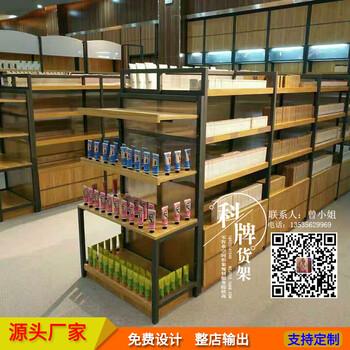 晨光文具店貨架超市單雙面展示貨架鋼木結合零食架