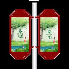 社区简约灯杆灯箱厂家/警卫灯杆广告牌材质