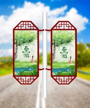 上海现代简约道旗灯箱/路杆灯箱/灯杆灯箱是什么