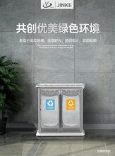 金柯环保分类垃圾桶公用商场电梯口方形创意酒店大堂立式垃圾箱图片