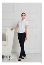 女士衬衣修身短袖白色60%棉现货直购厂家有货欢迎拿货