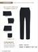 女士西裤现货韩版修型仿毛商务时尚英伦正装新款韩版修身藏青西裤
