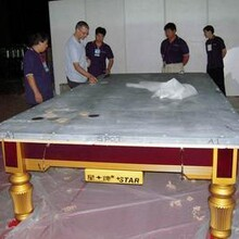 臺球桌拆修斯洛克九球黑8臺球桌移位臺球桌組裝調水平圖片