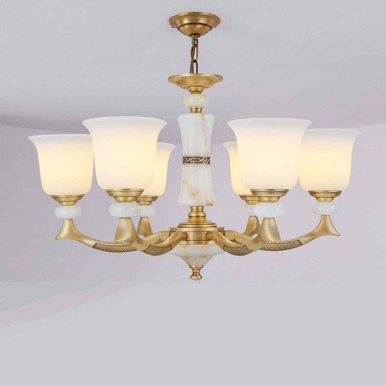 翻砂全铜灯全铜吊灯压铸欧式铜灯纯铜灯具