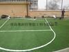 青岛运动场地面翻新-人造草坪足球场施工