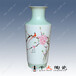 景德镇千火陶瓷办公室家居摆件手绘水点桃花棒槌瓶