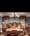 玛吉卡森美式古典复古实木布艺双人床
