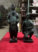 彩陶兵馬俑仿古禮品西安兵馬俑大擺件兵馬俑禮品定制價格圖片