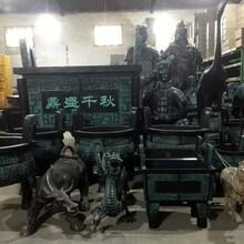 仿古秦代跪俑陜西兵馬俑制品開業擺件仿銅色兵馬俑西安兵馬俑批發圖片