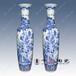 中国红陶瓷大花瓶颜色釉花瓶礼品花瓶厂家
