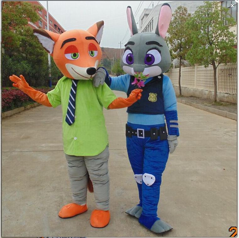 疯狂动物城兔子和狐狸卡通服装出租