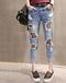 山东哪里有最便宜韩版牛仔裤批发厂家急需清仓尾货牛仔裤