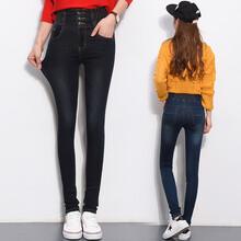 广西钦州市服装批发韩版牛仔裤清仓库存棉弹铅笔牛仔裤低价大量批发
