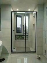 珠海钢化玻璃淋浴房干湿分离家用款立柱式角型淋浴房批量安装