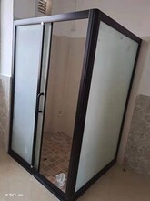 广州宾馆简易淋浴房转角L型方型家用屏风型淋浴房安装方法