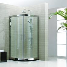 厂家供应酷比特8009弧形简易不锈钢淋浴房家装淋浴房图片
