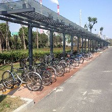 设计自行车停车位摆放自行车停放架