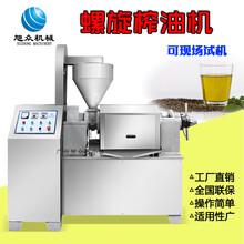 西藏创业设备全自动榨油机菜籽茶籽商用螺旋压榨油机多少钱图片