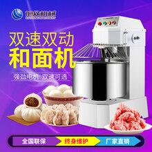 新乡店铺用面包双速双动和面机面粉搅拌揉面机多少钱图片