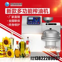 清远全自动小型榨油机家用花生榨油机器设备压榨过滤一体榨油机图片