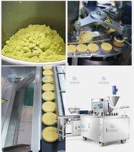 全自动新型打饼机价格及视频韶关做杏仁饼炒米饼的机器设备图片