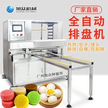 广东食品厂馒头自动排盘机面包码盘机月饼摆盘机图片