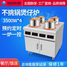 廣州商用六頭電磁煲仔飯機旭眾智能煲仔爐外賣電磁煲仔爐圖片