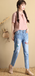 百搭熱賣韓版女裝牛仔褲尾貨批發去哪里工廠清倉大量尾貨牛仔褲處理