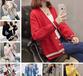 女装韩版拼色V领毛衣库存处理女装毛衣摆摊早市几元批发