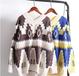 粗线条毛衣女装套头工厂库存处理女装毛衣摆摊集市货源广州