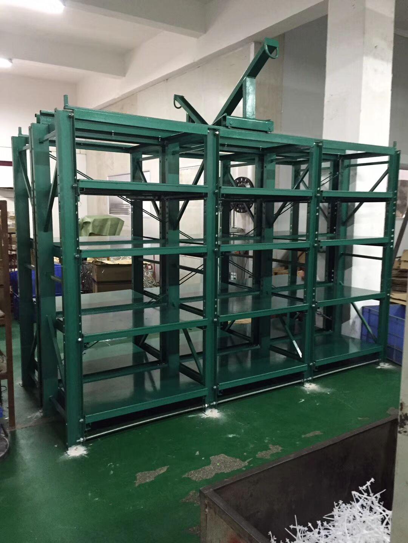 三格四层带天车模具架价格,深圳抽屉式模具架厂家