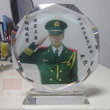 西安水晶彩印照片水晶奖杯水晶牌纪念品工艺品图片