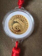西安校徽校牌镀金徽章纯银纪念币章金币带礼盒定制图片