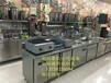 惠州全新宽奶茶不锈钢操作台商业制冷奶茶店一体操作台定做安装批发
