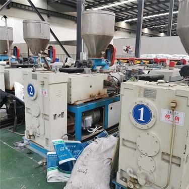 二手收购塑料抽粒机,65-80双螺杆挤出机回收专业高价