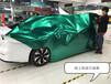 傳祺AionX改色貼膜施工,車身超亮金屬祖母綠改色膜,杭州專業汽車改色施工